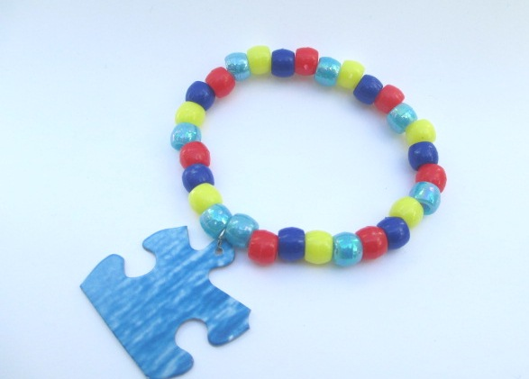 How to make an autism awareness bracelet shooting for for Craft ideas for autistic students